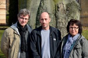 Der Vorstand (v.r.n.l.) Carola Fischer, Hans-Christoph Fichtner und Felix Raddatz